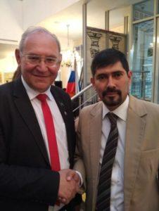 Б.А.Литвинов с Послом Никарагуа Хуаном Эрнесто Васкес Арайя.