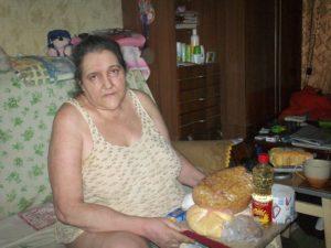 Инвалид войны Елена Скрипко, лишившаяся ноги при артобстреле 19.08.2014 года