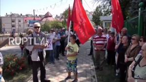 Протест против сноса советских памятников в Польше - Кишинев (Молдавия)
